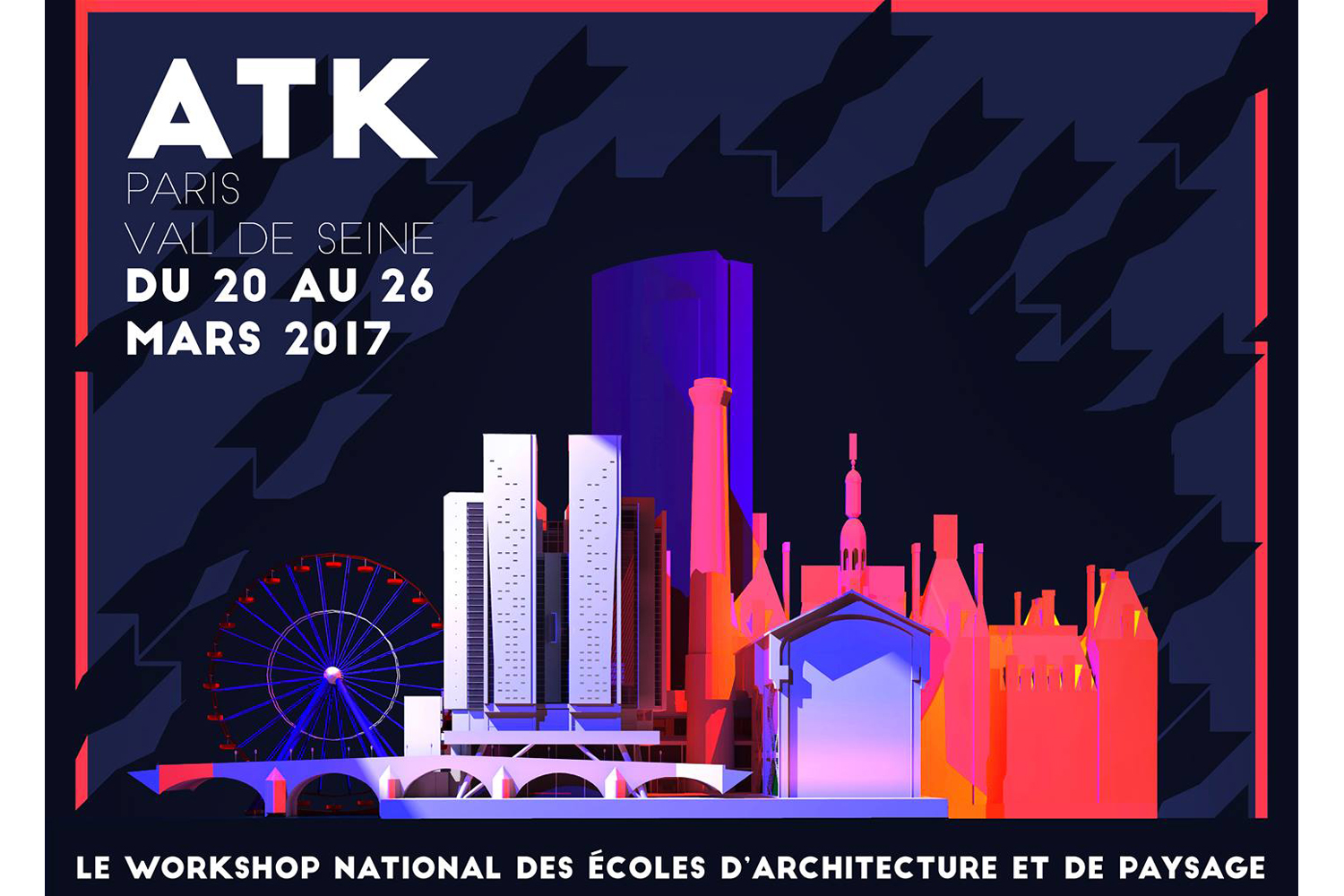 WORKSHOP ARCHITEKTONIC, ATK DU 20 AU 26 MARS À L'ENSA PARIS VAL DE SEINE !