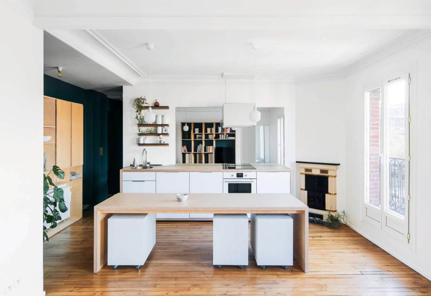 Rénovation d'un appartement parisien par l'architecte Emma Saintonge