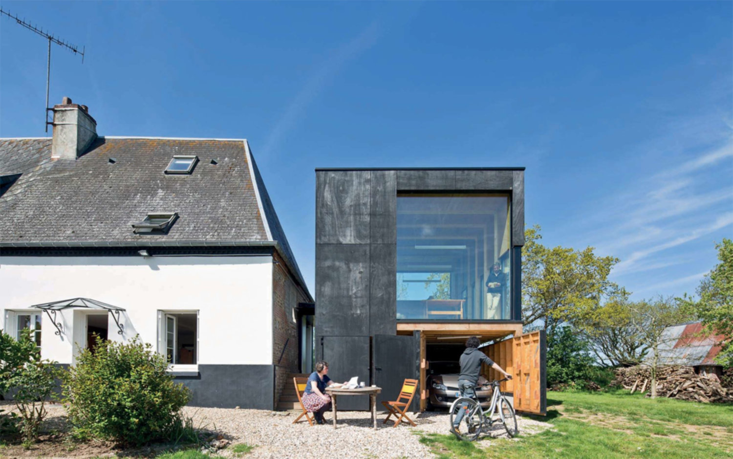 Extension normande par l'architecte Antonin Ziegler